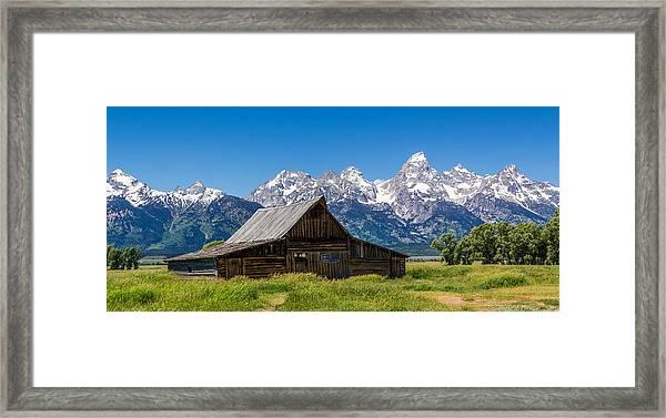 Teton Summer Framed Print