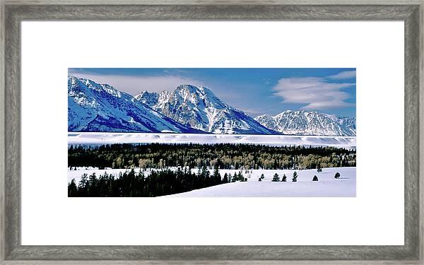 Teton Valley Winter Grand Teton National Park Framed Print