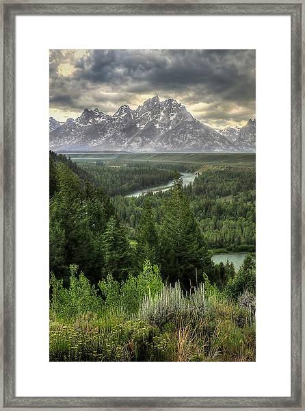 Teton Visions Framed Print