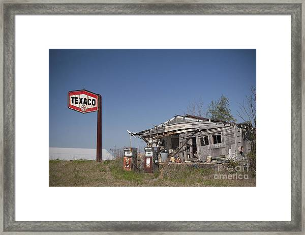 Texaco Country Store Framed Print