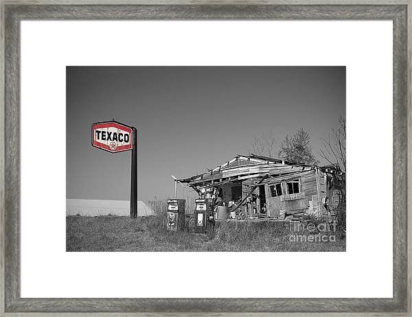 Texaco Country Store With Sign Framed Print
