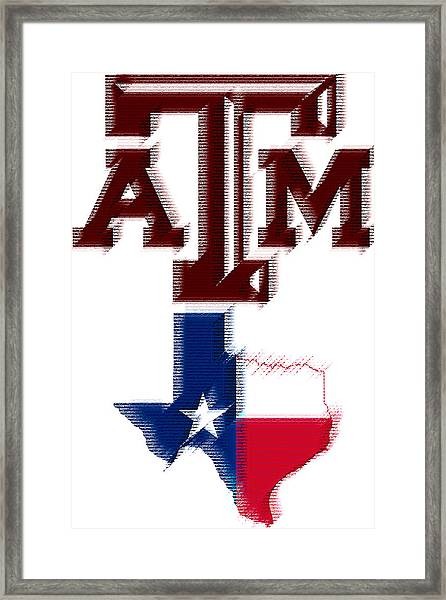 Texas Aggies Framed Print