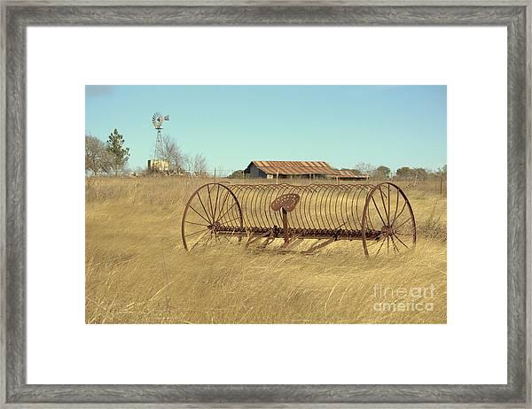 Texas Hill Country Farmscape Framed Print by Joe Pratt