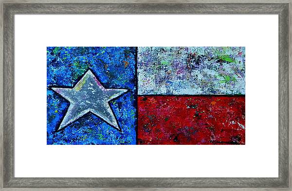 Texas In Color Framed Print