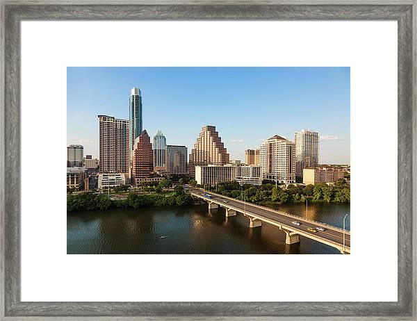 Texas Skyline During Golden Hour Framed Print