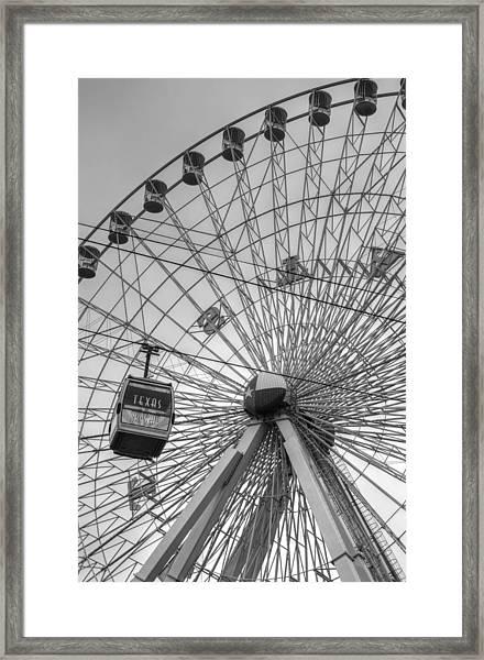 Texas Star Ferris Wheel Framed Print