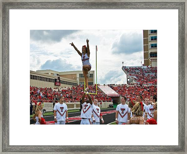 Framed Print featuring the photograph Texas Tech Cheerleaders by Mae Wertz