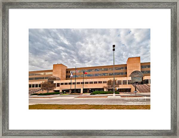 Framed Print featuring the photograph Texas Tech Health Science Center by Mae Wertz