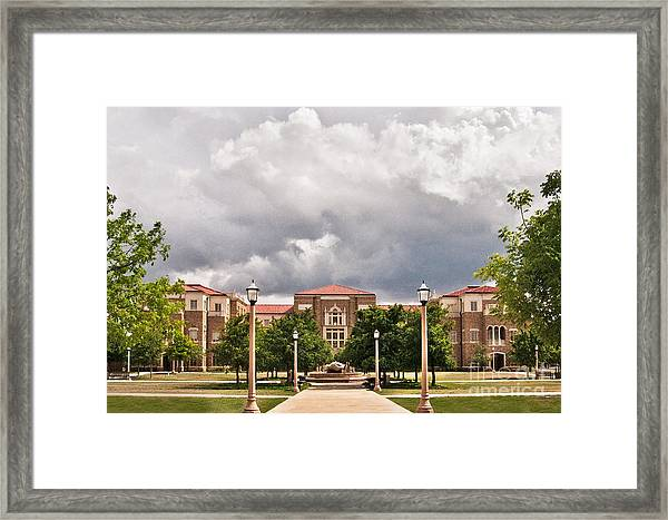 Framed Print featuring the photograph School Of Education by Mae Wertz