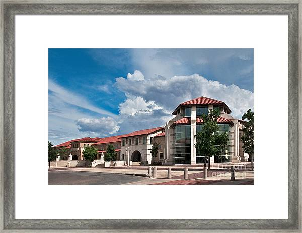 Framed Print featuring the photograph Texas Tech Student Union by Mae Wertz