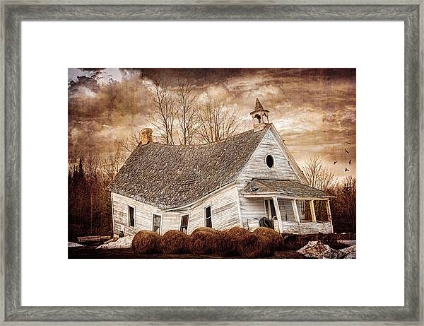 Textured Sway Back School House Framed Print