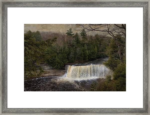 Textured Tahquamenon River Michigan Framed Print