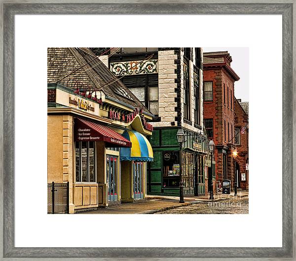 Thames Street Before The Crowds Come Framed Print