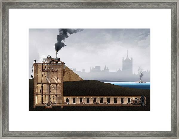 Thames Tunnel Construction Framed Print