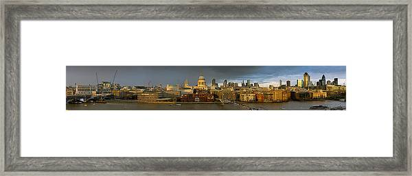 Thames With St Paul's Panorama Framed Print