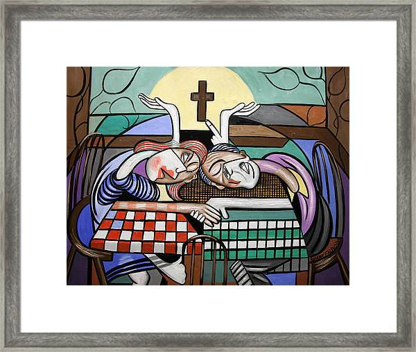 Thank You Jesus When Two Or More Are Gathered Framed Print