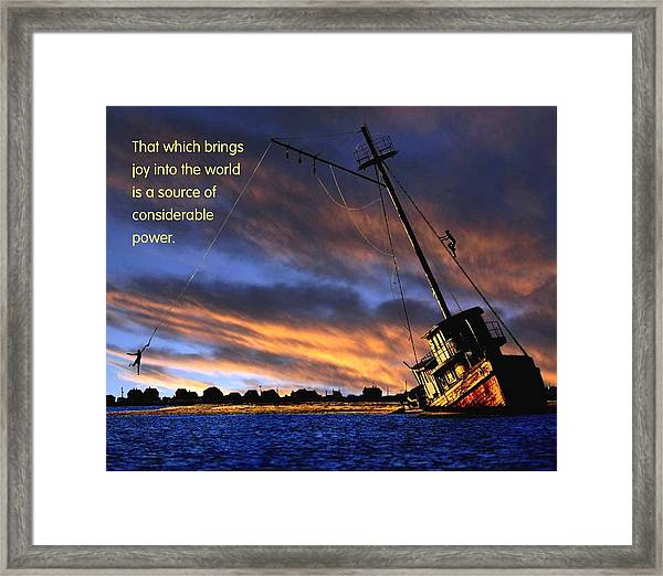 That Which Brings Joy Framed Print by Mike Flynn