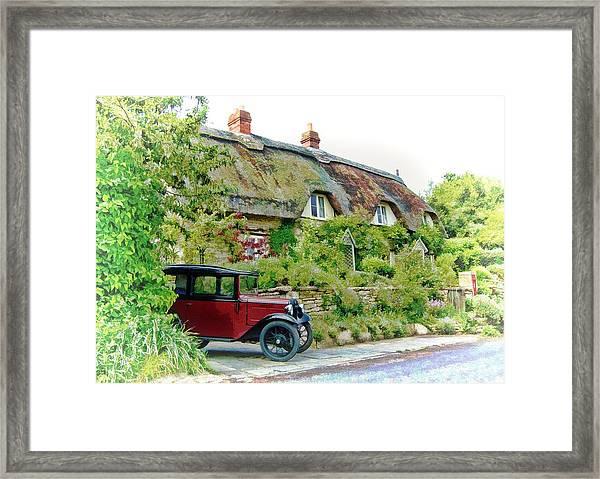 Thatched Cottages At Reybridge Framed Print