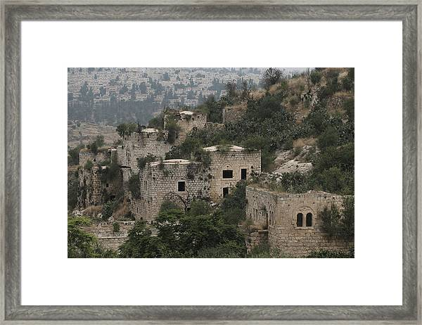 The Abandoned Palestinian Village Of Lifta On The Outskirts Of Jerusalem Framed Print by Eddie Gerald
