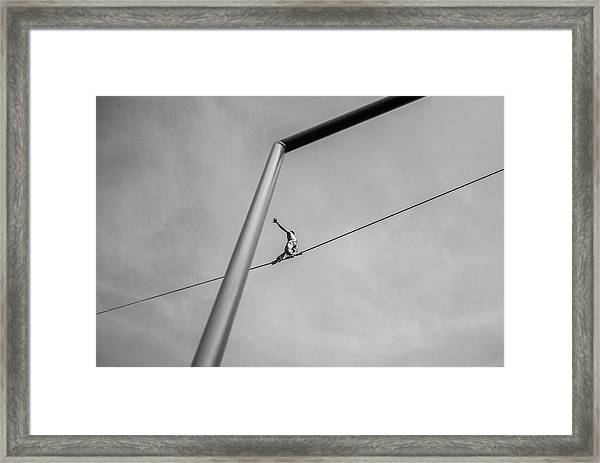 The Acrobat Framed Print by Alessandro L.