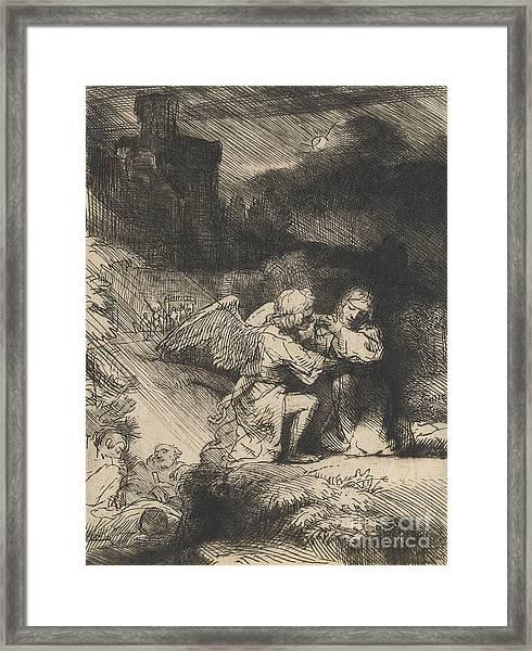 The Agony In The Garden Framed Print