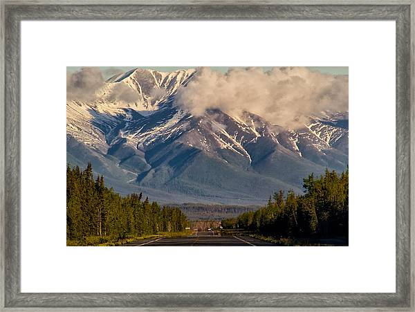 The Alaska Highway Tok Junction Alaska Framed Print