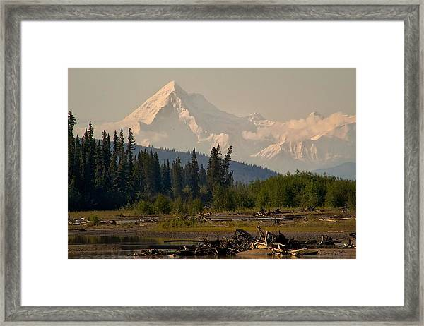 The Alaska Range At Mount Hayes Framed Print