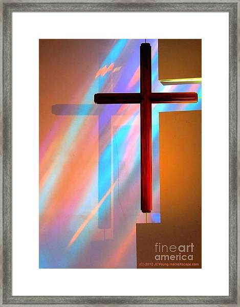 The Amazing Cross Framed Print by JCYoung MacroXscape