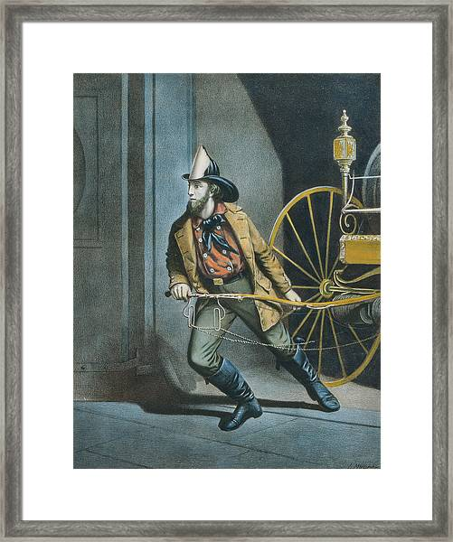 The American Fireman Always Ready Framed Print