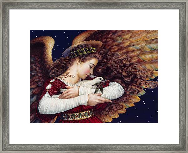 The Angel And The Dove Framed Print
