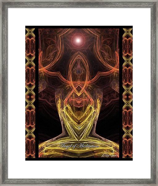 The Angel Of Meditation Framed Print