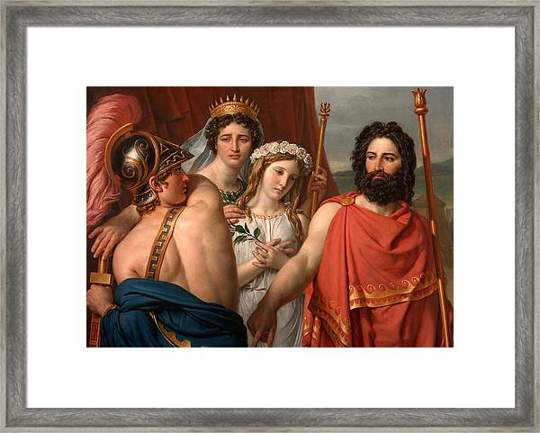 Framed Print featuring the painting The Anger Of Achilles by Jacques-Louis David
