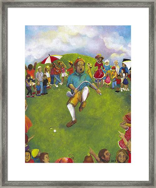 The Angry Golfer  Framed Print