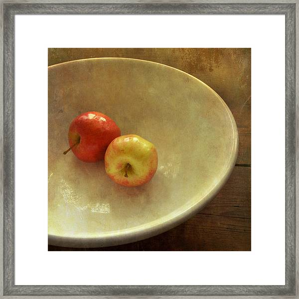 The Apple Bowl Framed Print