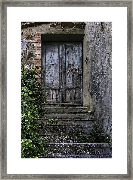 The Apricot House Framed Print