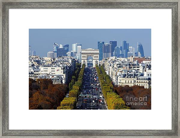 The Arc De Triomphe Paris France Framed Print