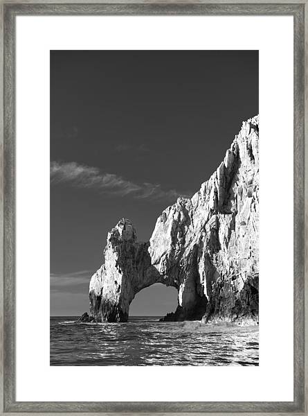 The Arch In Black And White Framed Print
