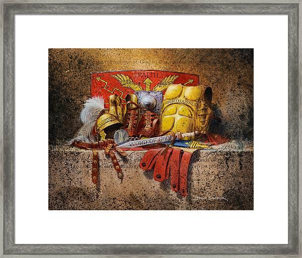 The Armour Of God Framed Print