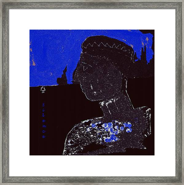 the Art of Being Silent Framed Print