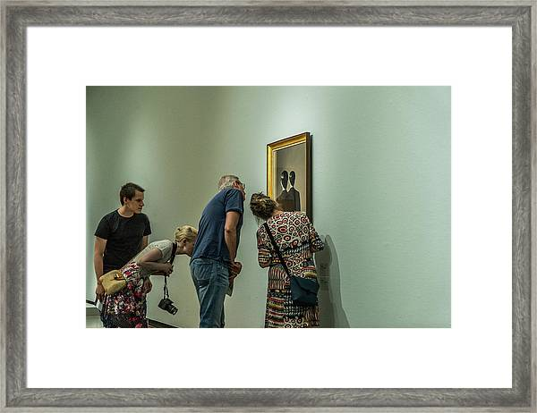 The Art Of Enjoying Art Framed Print by Susanne Stoop