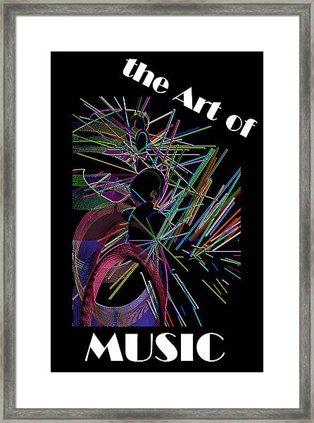 The Art Of Music With Spy Framed Print