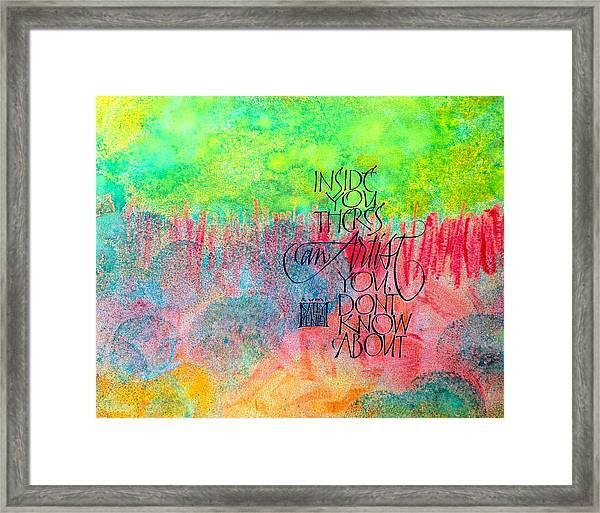 The Artist Inside You Framed Print