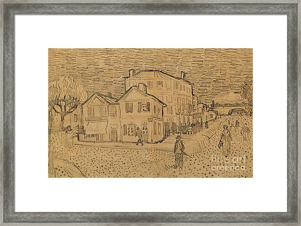The Artists House In Arles Framed Print