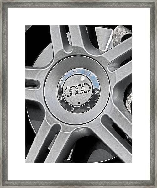 The Audi Wheel Framed Print