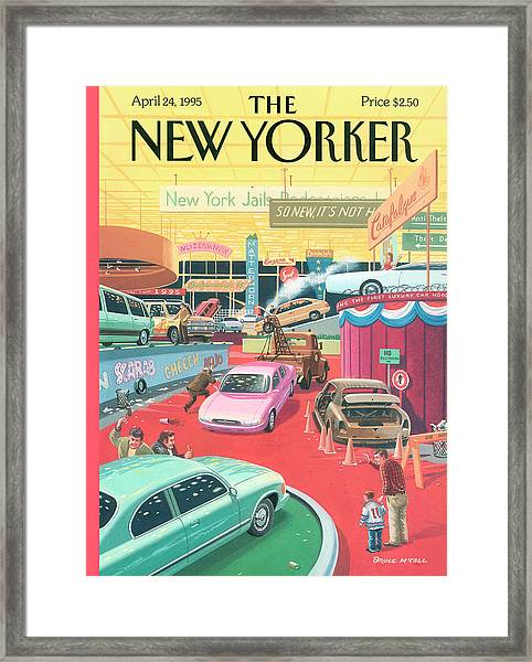 The Auto Show Framed Print