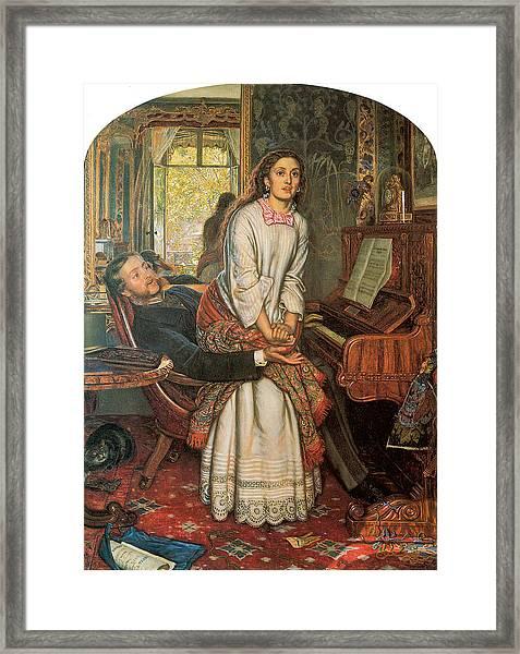 The Awakening Conscience Framed Print by William Holman Hunt