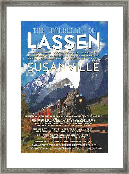 The Awakening Of Lassen Framed Print by The Couso Collection