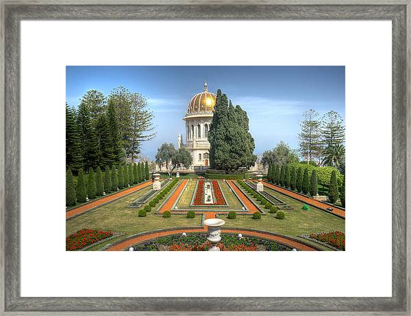 The Bahai Gardens Framed Print