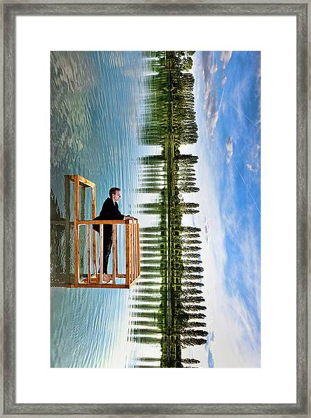 The Balcony (tribute To P. Ramette) Framed Print