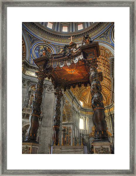 The Baldaccino Of Bernini Framed Print